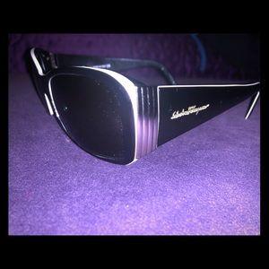 Authentic Salvatore Ferragamo Black Sunglasses